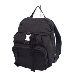 Prada PRADA Made in Italy Nylon Backpack Triangle Logo Plate V152 Black