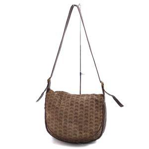 Bottega Veneta BOTTEGA VENETA Made in Italy Ladies Suede Full Pattern Shoulder Bag Leather Brown 鞄 Bottega