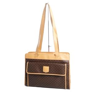 セリーヌ(Celine) セリーヌ CELINE イタリア製 レディース マカダム ショルダーバッグ PVC レザー バッグ 鞄 ブラウン