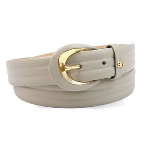 Balenciaga BALENCIAGA Women's Leather Buckle Belt Gray Genuine Vintage