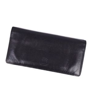 Burberry Black Label BURBERRY BLACK LABEL Men's Folded Leather Long Purse Wallet Genuine