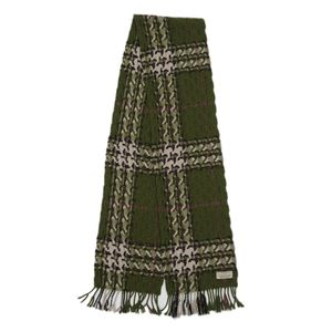 Burberry London BURBERRY LONDON Wool cashmere scarf Women's Scottish Green