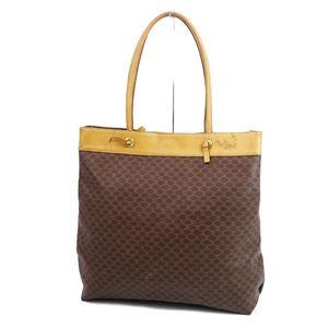 Celine CELINE Italian Made Macadam Shoulder Bag PVC Leather 鞄 Brown Vintage