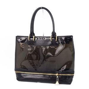 Burberry BURBERRY ESTABLISHED 1856 Established Clear Leather Tote Bag Semi Shoulder Men's Black Gold