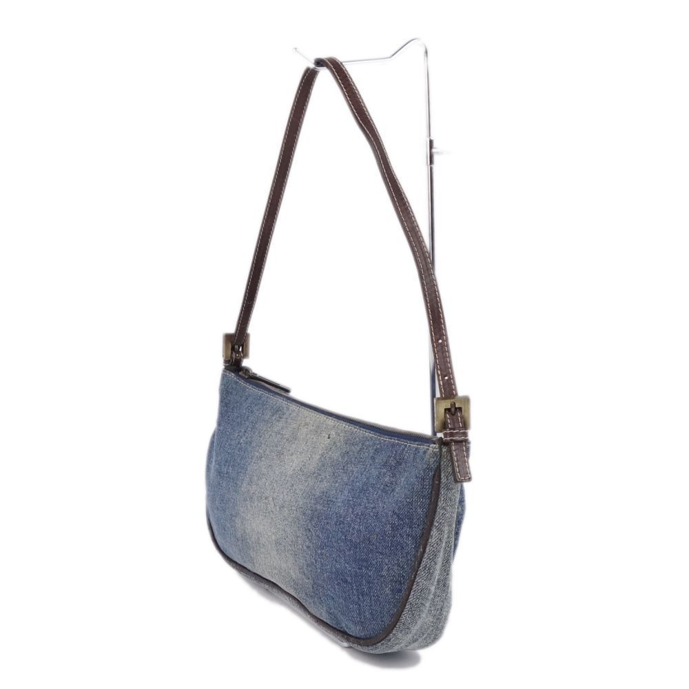 a2f821db4cc9d FENDI Denim Semi-shoulder Bag Handbags Women Made in Italy Indigo ...