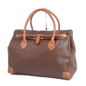 Old Celine CELINE Macadam Kelly Type Travel Bag Boston Brown Italian Made Vintage Womens Men
