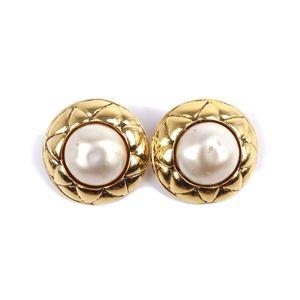 Chanel CHANEL French faux pearl earrings Women's Gold Earrings Vintage
