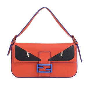 Fendi FENDI mamma bucket monster 2WAY shoulder pouch leather scarlet 8BR600