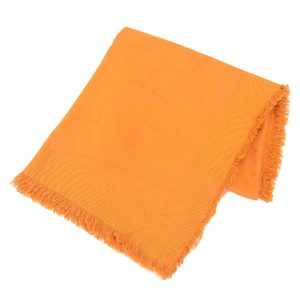Louis Vuitton LOUIS VUITTON Monogram Stole Silk Blend Orange