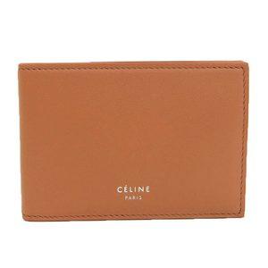Celine CELINE Tri-Fold Card Case Leather Terracotta 紺 1A8233AFF