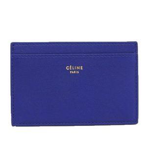 Celine CELINE regular case card indigo beige 100123XT1.07IL