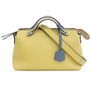 FENDI FENDI by the way 2WAY handbag shoulder leather yellow 8BL124