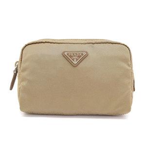 Prada PRADA 2018 product nylon cosmetic pouch khaki with guarantee card