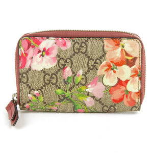 Gucci GUCCI 2015 Products GG Blooms Flower Coin Case Pink x Brown