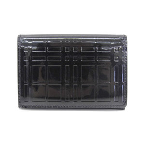 Burberry BURBERRY Patent Leather Nova Check Embossed Card Case Business Holder