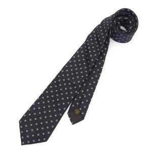 Louis Vuitton LOUISVUITTON Monogram Flower Silk Tie Black Intrechert Kravatt Fit