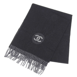 CHANEL 2015 product cashmere 100% fringe muffler coco mark