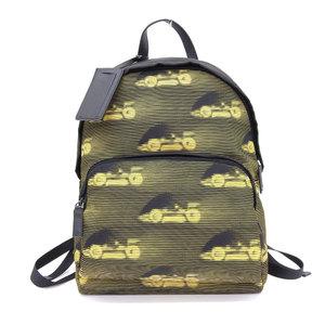 Prada PRADA 2vz 066 TESSUTO ST. CARS NERO GIALLO Tess nylon rucksack backpack current MIRANO tag