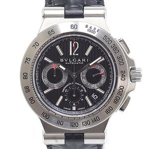 BVLGARI Bvlgari Men's Watch Diagono Professional Chronograph Terra DP42BSLDCH Black Dial Automatic Unused