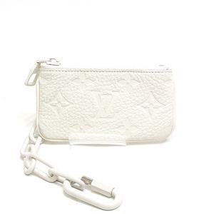 LOUIS VUITTON Louis Vuitton Trillon Monogram Pochette Cle Coin Case Purses M67451 White Like New