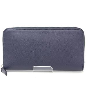 Prada PRADA Safiano leather round zipper long wallet SAFFIANO BALTICO 2ML317 Navy Unused goods