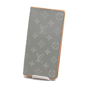LOUIS VUITTON Louis Vuitton Monogram Titanium Portofoile Braza Long Bi-Fold Wallet M63236 Like New