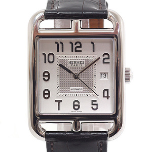 HERMES Hermes Men's Watch Cape Cod Date CD 6.710 Silver Dial Automatic