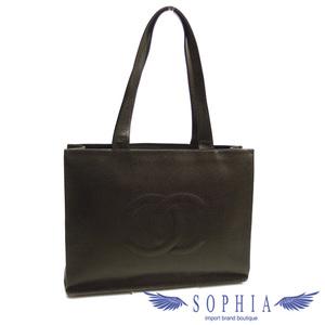 Chanel Coco Mark Caviar Skin Tote Bag Black 20190617