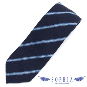Hermes striped tie navy x light blue 20190620