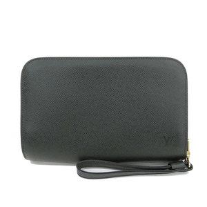B 楽 本本 ☆ Genuine Louis Vuitton Taiga Baikal Second bag Epithea Green VI1906 Leather