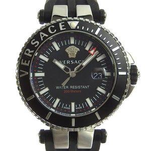 B rakushi net store ☆ genuine VERSACE Versace V race diver men's quartz watch VAK