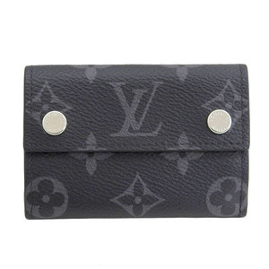 B 市 本本 ☆ 物 LOUIS VUITTON Louis Vuitton Monogram Eclipse Discovery Compact Wallet M67630 Leather
