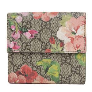 B Rakuichi head office ☆ genuine GUCCI Gucci bloom W hook two-fold wallet 410071 leather