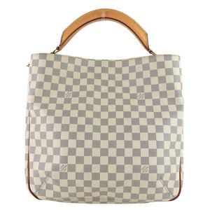 B 市 本本 ☆ 物 LOUIS VUITTON Louis Vuitton Damier Azur Sophi 2WAY bag N41216 Leather