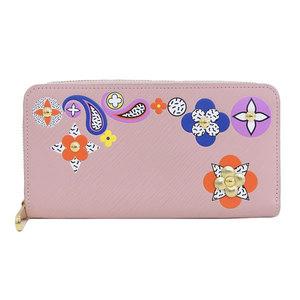 B 市 本本 ☆ LO LOUIS VUITTON Louis Vuitton Zippy Epi Flower long wallet Rose Valerie pink M62067 leather