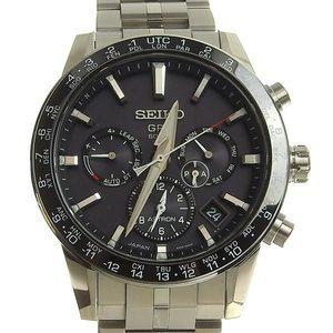 B rakushi net store ☆ genuine SEIKO Seiko Astron Men's solar watch 5X53-0AB0