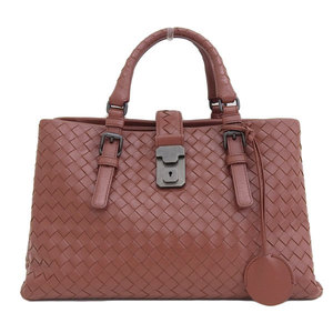 B Buraichi Main Store ☆ Genuine Bottega Veneta Intrecherto 2WAY Hand bag Red-brown leather