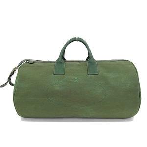 B Rakuichi Main Store ☆ Genuine PRADA Prada Canvas 2WAY Boston Bag Shoulder Green Leather