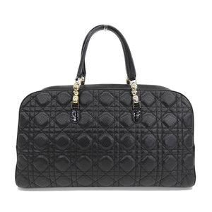 B Rakuichi Main Store ☆ Genuine Christian Dior Canage Mini Boston Bag Handbag Punching Leather Black