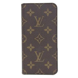 B 市 本本 ☆ 物 LOUIS VUITTON Louis Vuitton Monogram iPhone Folio smartphone cover Case