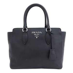 B 市 本本 ☆ Genuine PRADA Prada VITELLO PHENIX leather 2WAY tote bag black 1BA205