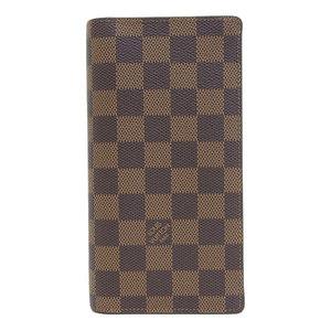 B 市 本本 ☆ 物 LOUIS VUITTON Louis Vuitton Damier Portofeil bras Long wallet N60017 leather