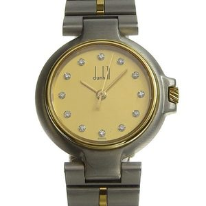 B rakushi net store ☆ real DUNHILL Dunhill Millennium 12P diamond women's quartz watch