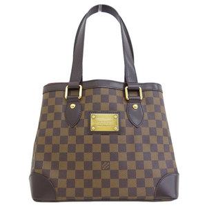 B 市 本本 ☆ LO LOUIS VUITTON Louis Vuitton Damier Hampstead PM Tote Bag Leather