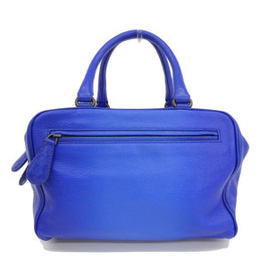 B 市 本本 ☆ BOTTEGA VENETA Bottega Veneta Leather handbag Mini Boston bag Blue leather