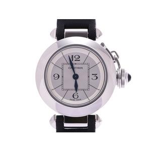 Cartier Mispasha W34120025 Silver dial face Ladies SS / satin Quartz watch A rank beauty item CARTIER used Ginzo
