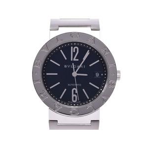 ブルガリ ブルガリブルガリ38 黒文字盤 BB38SS メンズ SS 自動巻 腕時計 Aランク BVLGARI 中古 銀蔵