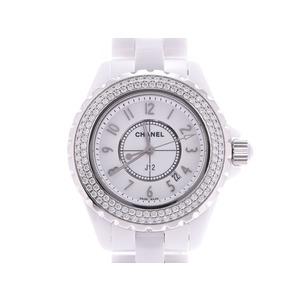 Chanel J12 33 mm New needle White dial H0967 Ladies white ceramic diamond bezel Quartz watch A rank beauty item CHANEL Used Ginzo