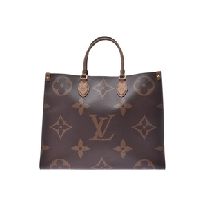 Louis Vuitton Monogram On The Go GM Brown M44576 Women's Genuine Leather 2WAY Bag New LOUIS VUITTON Ginzo