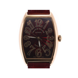 Frank Muller Sunset Red face 2852SCSUN Ladies YG / leather Automatic winding watch A rank beauty item FRANCK MULLER box regular Gallair